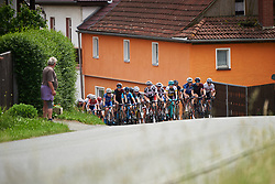 The peloton approach at Lotto Thuringen Ladies Tour 2018 - Stage 3, a 131 km road race starting and finishing in Schleiz, Germany on May 30, 2018. Photo by Sean Robinson/Velofocus.com