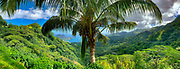 View of  Taiohae Bay, Nuku Hiva, Marquesas; French Polynesia; South Pacific