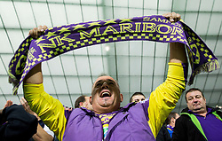 Fans of Maribor during football match between NK Maribor and Sporting Lisbon (POR) in Group G of Group Stage of UEFA Champions League 2014/15, on September 17, 2014 in Stadium Ljudski vrt, Maribor, Slovenia. Photo by Vid Ponikvar  / Sportida.com