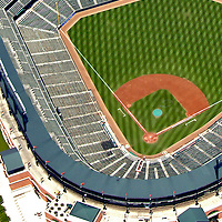 Aerial Photograph of the Baltimore Orioles Camden Yards Aerial views of artistic patterns in the earth.