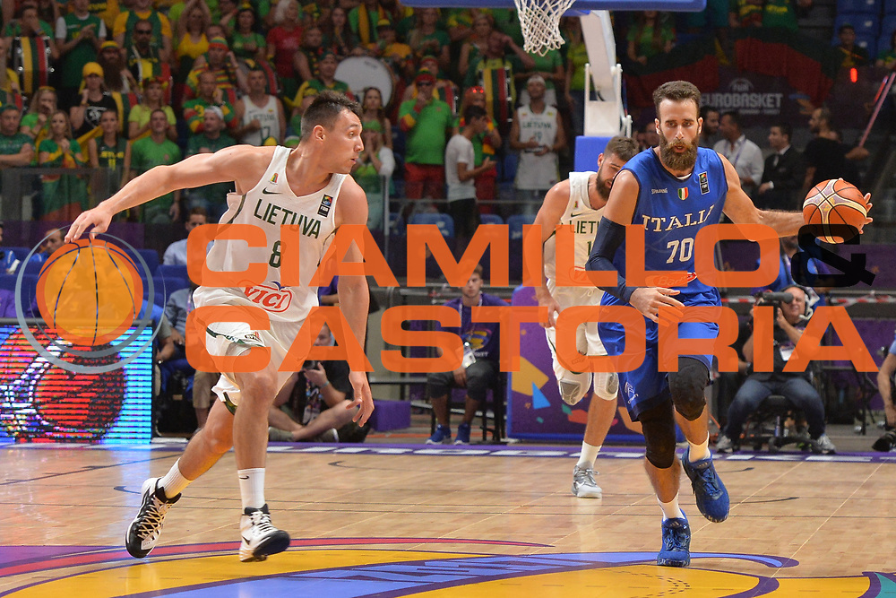 Luigi Datome<br /> Nazionale Italiana Maschile Senior<br /> Eurobasket 2017 - Group Phase<br /> Lituania - Italia<br /> FIP 2017<br /> Tel Aviv, 03/09/2017<br /> Foto Ciamillo - Castoria/ M.Longo