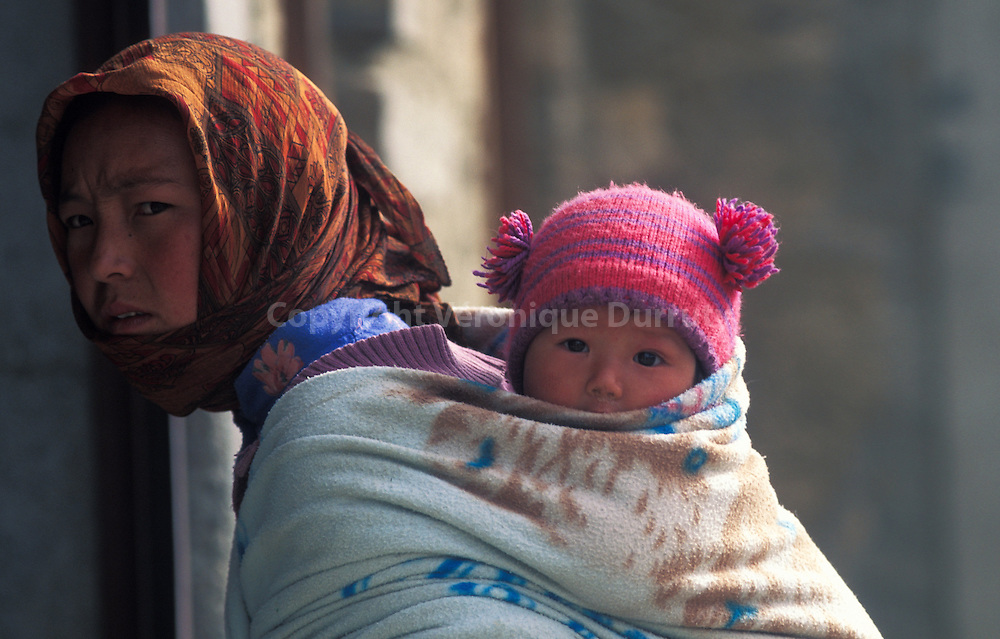 LADAKHI WOMAN AND BABY, INDIA