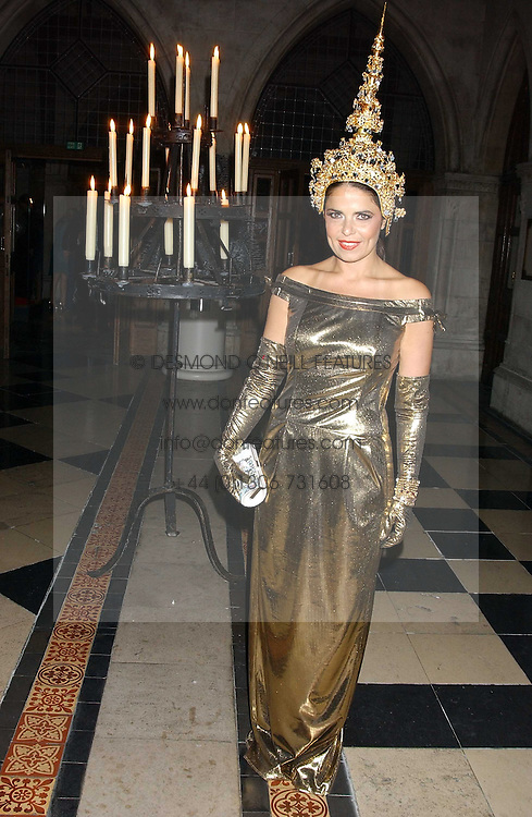 Fashion designer DANIELLA HELAYEL at Andy & Patti Wong's annual Chinese New Year party, this year celebrating the year of the dog held at The Royal Courts of Justice, The Strand, London WC2 on 28th January 2006.<br />