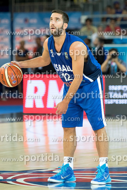 06.09.2015, Park Suites Arena, Montpellier, FRA, Finnland vs Israel, Gruppe A, im Bild YOGEV OHAYON (12) // during the FIBA Eurobasket 2015, group A match between Finland and Israel at the Park Suites Arena in Montpellier, France on 2015/09/06. EXPA Pictures &copy; 2015, PhotoCredit: EXPA/ Newspix/ Pawel Pietranik<br /> <br /> *****ATTENTION - for AUT, SLO, CRO, SRB, BIH, MAZ, TUR, SUI, SWE only*****