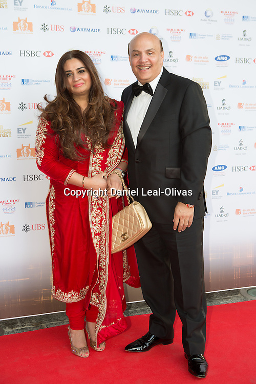 Asian Rich List Gala. Sanjay Anand and guest attends the annual ceremony which recognises the country\'s richest Asians. Figures compiled by the Eastern Eye newspaper. Park Plaza Hotel, London, United Kingdom. Friday, 11th April 2014. Picture by Daniel Leal-Olivas / i-Images