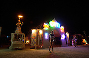 at the Burningman counter culture arts festival in the Black Rock Desert 100 miles north east of Reno, NV, Wednesday, Sept 1, 2004.
