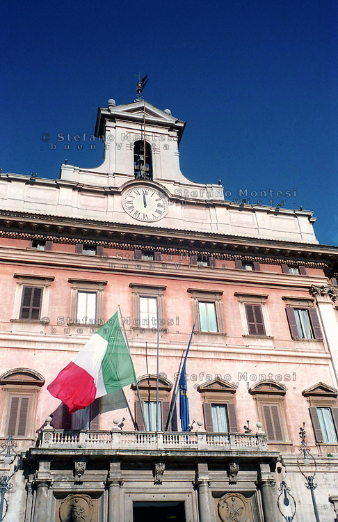 Rome 2004.The Palazzo Montecitorio is a palace in Rome, which is currently the seat of the Italian Chamber of Deputies.