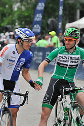 Pro-cyclist and 2015 winner CARLOS BARBERO of team Caja Rural at the start of the 2016 Philadelphia Cycling Classic, on June 6th, 2016, in Philadelphia, Pennsylvania. Pro-cyclist compete at a 73.8miles/118.7km course for the UCI Women's World Tour and 110.7miles/178.2km for the UCI 1.1 Men's America Tour during the 'Manaynunk Wall' Philly Bike Race.