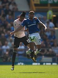 Chris Smalling of Manchester United (L) and Dominic Calvert-Lewin of Everton in action - Mandatory by-line: Jack Phillips/JMP - 21/04/2019 - FOOTBALL - Goodison Park - Liverpool, England - Everton v Manchester United - English Premier League