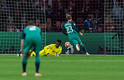 08-05-2019 NED: Semi Final Champions League AFC Ajax - Tottenham Hotspur, Amsterdam<br /> After a dramatic ending, Ajax has not been able to reach the final of the Champions League. In the final second Tottenham Hotspur scored 3-2 / Andre Onana #24 of Ajax, Lucas #27 of Tottenham Hotspur scores 2-1, Christian Eriksen #23 of Tottenham Hotspur