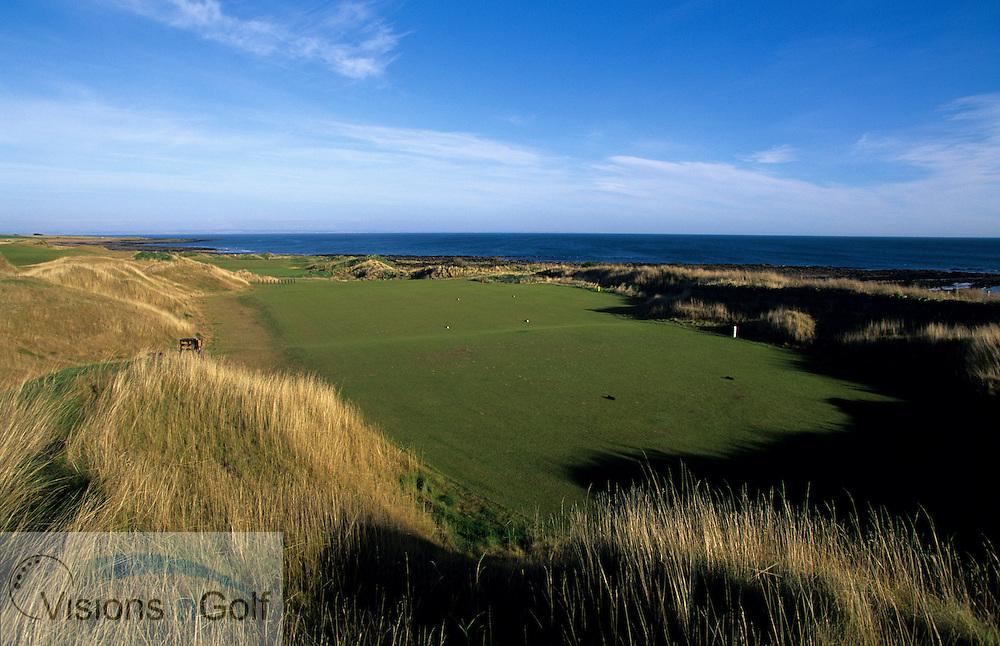 Kingsbarns Golf Club, Scotland. Hole 2. <br /> <br /> Mandatory credit: Visions In Golf/Richard Castka