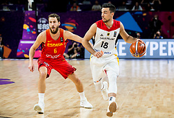 Sergio Rodriguez of Spain vs Ismet Akpinar of Germany during basketball match between National Teams of Germany and Spain at Day 13 in Round of 16 of the FIBA EuroBasket 2017 at Sinan Erdem Dome in Istanbul, Turkey on September 12, 2017. Photo by Vid Ponikvar / Sportida