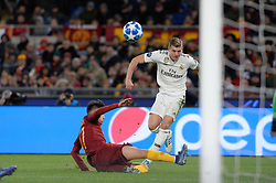 November 27, 2018 - Rome, Italy - Toni Kroos during the UEFA Champions League match group G between AS Roma and Real Madrid FC at the Olympic stadium on november 27, 2018 in Rome, Italy. (Credit Image: © Silvia Lore/NurPhoto via ZUMA Press)