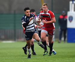 Nathan Brooks (Hartpury College) of Bristol Rugby Academy U18 - Mandatory by-line: Paul Knight/JMP - 11/02/2017 - RUGBY - SGS Wise Campus - Bristol, England - Bristol Academy v Gloucester Academy - Premiership Rugby Academy U18 League