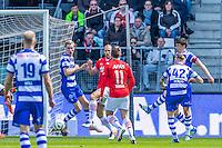 ALKMAAR - 01-05-2016, AZ - de Graafschap, AFAS Stadion, De Graafschap speler Mark Diemers  (r) scoort hier de 0-1, doelpunt.