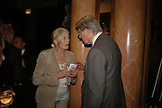 Vanessa Redgrave and Bill Cash, Vanessa Redgrave and Thelma Holt host a reception at the<br />Theatre Museum in Russell Street (in Covent Garden) to campaign proposed move of museum out of the West End. Tuesday 16 May 2006ONE TIME USE ONLY - DO NOT ARCHIVE  © Copyright Photograph by Dafydd Jones 66 Stockwell Park Rd. London SW9 0DA Tel 020 7733 0108 www.dafjones.com