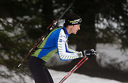Fak Jakov of Croatia at training session of Slovenian biathlon team before new season 2009/2010,  on November 16, 2009, in Pokljuka, Slovenia.   (Photo by Vid Ponikvar / Sportida)