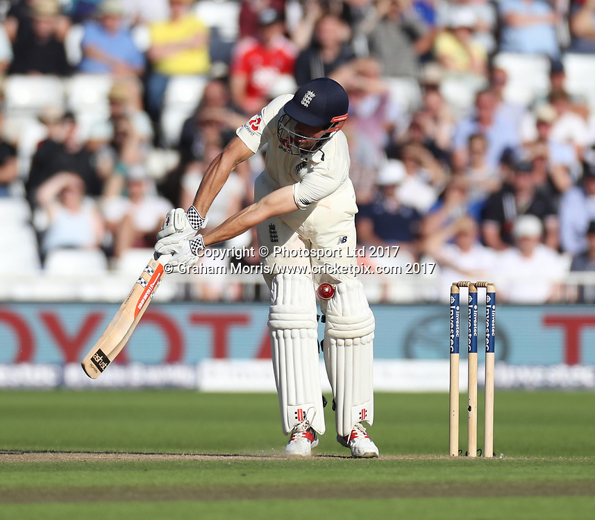 Alastair Cook is not lbw first ball to Morne Morkel during the 2nd Investec Test Match between England and South Africa at Trent Bridge, Nottingham. Photo: Graham Morris/www.cricketpix.com / www.photosport.nz