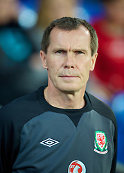 CARDIFF, WALES - Thursday, September 26, 2013: Wales' manager Jarmo Matikainen before the FIFA Women's World Cup Canada 2015 Qualifying Group 6 match against Belarus at the Cardiff City Stadium. (Pic by David Rawcliffe/Propaganda)