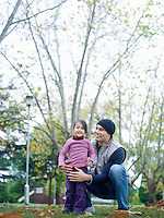 Father and Daughter in Park