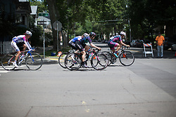 Tiffany Cromwell (AUS) of CANYON//SRAM Racing rides at the front of the peloton during the fourth, 70 km road race stage of the Amgen Tour of California - a stage race in California, United States on May 22, 2016 in Sacramento, CA.