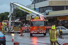 Porirua-Fire fighters respond to fire in Pember  House