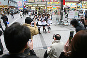 Mar 3, 2006; Tokyo, JPN; Akihabara.Fans photograph anime models at Akihabara Station...Photo Credit: Darrell Miho .Copyright © 2006 Darrell Miho .