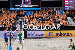 07-01-2018 NED: DELA Beach Open day 5, Den Haag<br /> Support publiek tijdens de Dela Beach Open