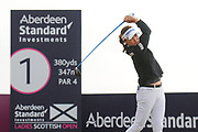 So Yeon Ryu tees off at the the Aberdeen Standard Investments Ladies Scottish Open 2018 at Gullane Golf Club, Gullane, Scotland on 28 July 2018. Picture by Kevin Murray.