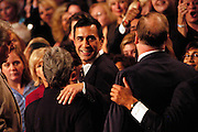Los Angeles, CA, USA, 07.10.October 7th 2003: At Arnold Schwarzenegger's landslide victory celebration, Congressman Darrell Issa who initially asked for the recall was one of the guests. Schwarzenegger beat Lieutenant Governor Cruz Bustamante in the California Recall Election.