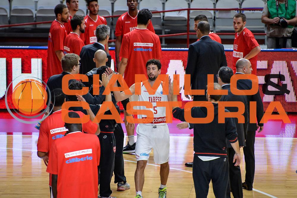 DESCRIZIONE : Varese FIBA Eurocup 2015-16 Openjobmetis Varese Telenet Ostevia Ostende<br /> GIOCATORE : Roko Ukic<br /> CATEGORIA : Pre Game Mani <br /> SQUADRA : Openjobmetis Varese<br /> EVENTO : FIBA Eurocup 2015-16<br /> GARA : Openjobmetis Varese - Telenet Ostevia Ostende<br /> DATA : 28/10/2015<br /> SPORT : Pallacanestro<br /> AUTORE : Agenzia Ciamillo-Castoria/M.Ozbot<br /> Galleria : FIBA Eurocup 2015-16 <br /> Fotonotizia: Varese FIBA Eurocup 2015-16 Openjobmetis Varese - Telenet Ostevia Ostende