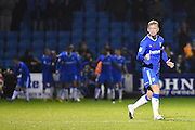 Gillingham midfielder Josh Wright(c) (44) celebrates his team winning (2-1) during the EFL Sky Bet League 1 match between Gillingham and Northampton Town at the MEMS Priestfield Stadium, Gillingham, England on 12 November 2016. Photo by Martin Cole.