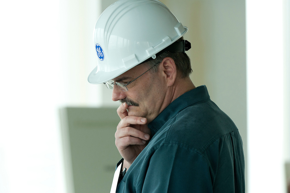 Man at a General Electric construction site.<br />