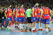 Team Spain during the EHF 2018 Men's European Championship, Final Handball match between Spain and Sweden on January 28, 2018 at the Arena in Zagreb, Croatia - Photo Laurent Lairys / ProSportsImages / DPPI
