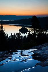 """Emerald Bay Sunrise 13"" - Photograph of Lake Tahoe's Emerald Bay and the top of Eagle Falls, shot at sunrise."