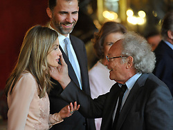 12.10.2010, Madrid, ESP, Spain National Day in Madrid, royal family attend the Reception at Royal Palace, im Bild Spanish King Juan Carlos, Queen Sofia, Princes Felipe, Princess Letizia, Princess Elena, Princess Cristina and Inaqui Urdangarin. EXPA Pictures © 2010, PhotoCredit: EXPA/ Alterphotos/ Gegundez +++++ ATTENTION - OUT OF SPAIN / ESP +++++