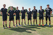 Forest Green Rovers summer signings during the first day back at training for Forest Green Rovers at the New Lawn, Forest Green, United Kingdom on 2 July 2018. Picture by Shane Healey.