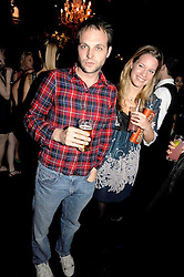 The HON.EDWARD SACKVILLE and JESSICA PALMER-TOMKINSON at the Tatler Magazine Little Black Book party at Tramp, 40 Jermyn Street, London SW1 on 5th November 2008.