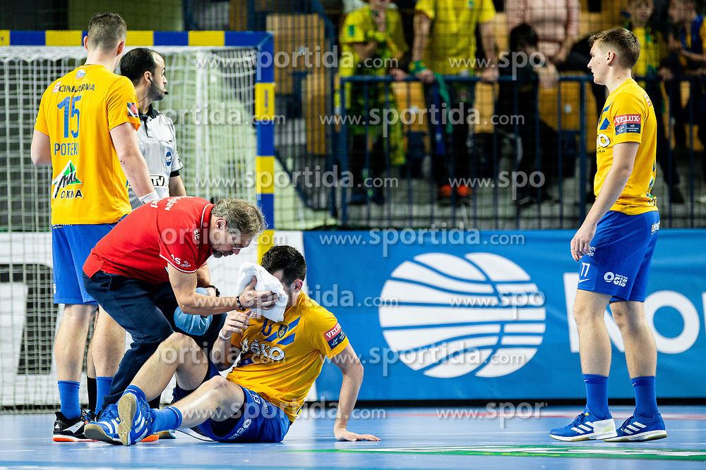 Josip Šarac of RK Celje Pivovarna Lasko during handball match between RK Celje Pivovarna Lasko (SLO) and of MOL Pick Szeged (HUN) in 9th Round of EHF Champions League 2019/20, on November 24, 2019 in Arena Zlatorog, Celje, Slovenia. Photo Grega Valancic / Sportida
