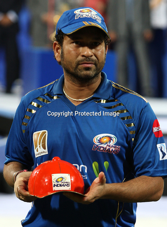 Sachin Tendulkar, highest runs, Indian Premier League twenty20 cricket final, Mumbai Indians v Chennai Super Kings, 26 April 2010.