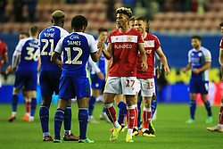 Bristol City's Lloyd Kelly shakes hands with Wigan Athletic's Reece James - Mandatory by-line: Matt McNulty/JMP - 21/09/2018 - FOOTBALL - DW Stadium - Wigan, England - Wigan Athletic v Bristol City - Sky Bet Championship