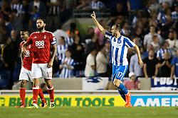 Goal, Glenn Murray of Brighton & Hove Albion scores, Brighton & Hove Albion 3-0 Nottingham Forest - Mandatory by-line: Jason Brown/JMP - 12/08/2016 - FOOTBALL - Amex Stadium - Brighton, England - Brighton & Hove Albion v Nottingham Forest - Sky Bet Championship