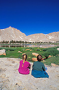 Kids in the Cottonwood Lakes Basin, John Muir Wilderness, Sierra Nevada Mountains, California