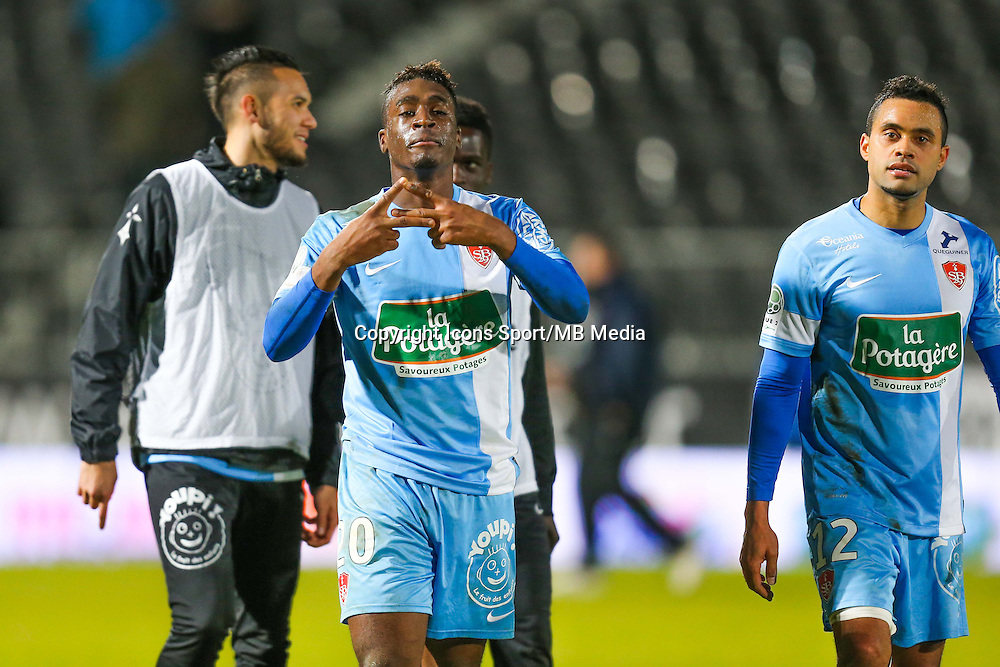 Joie groupe Brest / William SEA NESSEMON  - 26.01.2015 - Angers / Brest - 21eme journee de Ligue 2 -<br /> Photo : Vincent Michel / Icon Sport