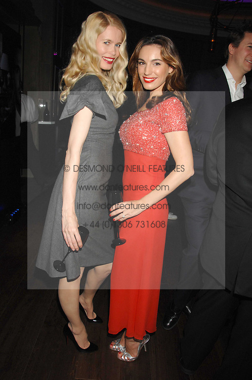 Left to right, CLAUDIA SCHIFFER and KELLY BROOK at a party to launch the Dom Perignon OEotheque 1995 held at The Landau, Portland Place, London W1 on 26th February 2008.<br /><br />NON EXCLUSIVE - WORLD RIGHTS
