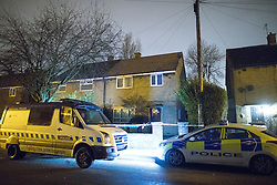 © Licensed to London News Pictures. 10/01/2018. Stockport, UK. GV of 19 Matlock Road , Reddish , where police and crime scene investigators , investigating the historical disappearance of Kenneth Coombes , are digging up the garden after a 63 year old woman handed herself in to Cheadle Heath Police Station . Photo credit: Joel Goodman/LNP