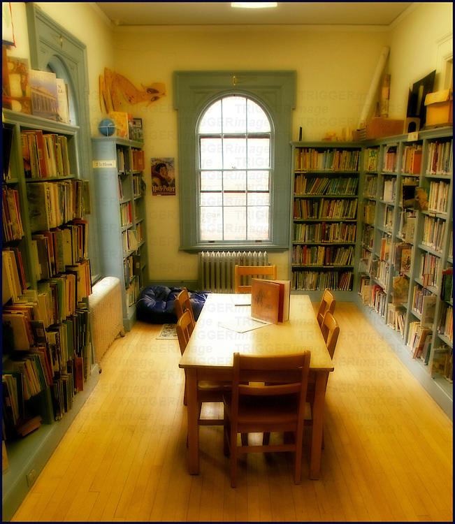 A small library interior