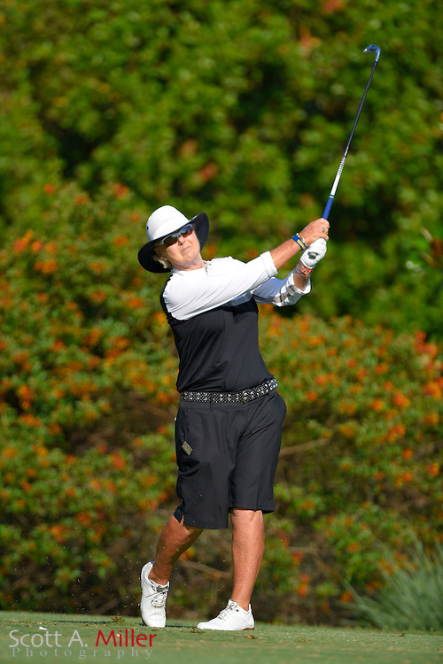 Pat Bradley during the final round of the Chico's Patty Berg Memorial on April 19, 2015 in Fort Myers, Florida. The tournament feature golfers from both the Symetra and Legends Tours.<br /> <br /> &copy;2015 Scott A. Miller