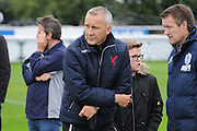 Keith Millan watches the development side during the U21 Professional Development League match between U21 QPR and U21 Crystal Palace at the Loftus Road Stadium, London, England on 31 August 2015. Photo by Michael Hulf.