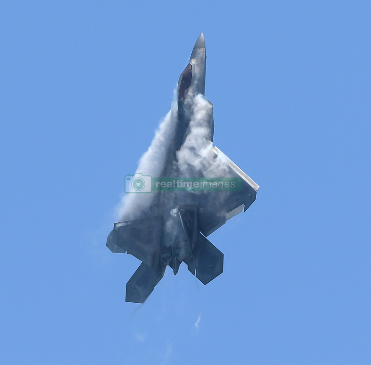FORT LAUDERDALE, FL - MAY 04: U.S. Air Force F-22 Raptor performs in the Fort Lauderdale Air Show on May 4, 2019 in Fort Lauderdale, Florida...People:  U.S. Air Force F-22 Raptor. (Credit Image: © SMG via ZUMA Wire)